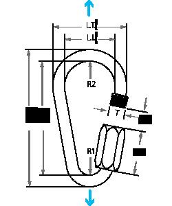 Scheme Pear Shape Maillon rapide